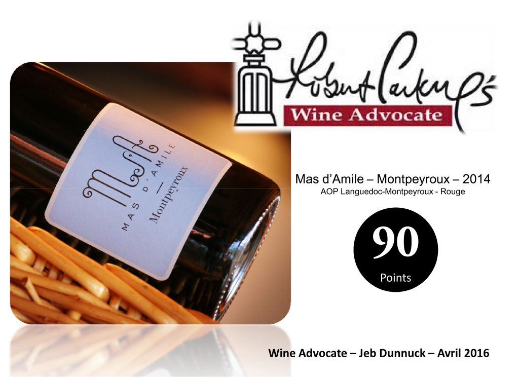 Microsoft PowerPoint - 90 Wine Advocate -Mas d'Amile Montpeyroux